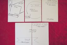 Project life-cards- sketches