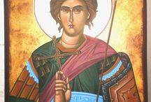 Greek Orthodox iconography.  Macedonia Greece.