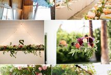 Hanging flowers and greens