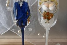 Wedding glasses / Exclusive hand-painted wedding cups by Juliana Hamajdak. www.malovaneumenie.sk