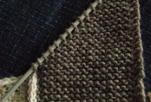 knit mitered squere
