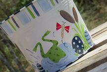 HAND PAINTED EASTER BUCKETS / Easter pails, hand painted, Easter buckets for kids,