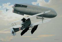 WW1 Air Warfare Paintings and Drawings
