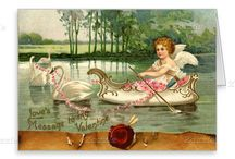 VALENTINE'S DAY / Original art and vintage style Valentine design  collections by Bulgan Lumini (c)