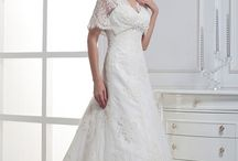 A15248-1Z , A15225-1X A-Line Wedding Dress / Lace V-Neckline A-Line Wedding Dress with Translucent Lace Sleeves Model No: A15248-1Z               Fabric: Lace One shoulder long pleat wedding dress, sweetheart with flower court train Model No: A15225-1X                Fabric: Organza