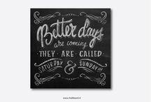 Krijtbord letters en typografie
