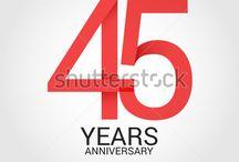 Anniversary Celebration design using simple and flat design / link for download http://shutterstock.com/g/seklihermantaputra