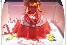 Barbie Doll shaped cake