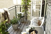 Balconies, terraces, rooftop gardens