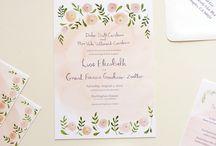 watercolor invitation