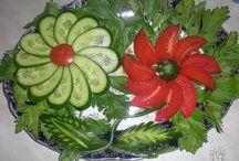 Verdure scolpite