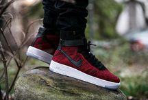 "Nike AF1 Ultra Flyknit Mid ""University Red"" (817420-600)"