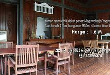 Rumah Etnik Yogyakarta Dijual