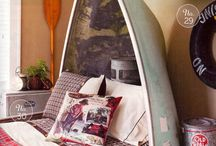 Camp inspired bedrooms