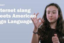 Sign Language slang