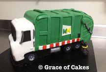 Rubbish Truck Cakes