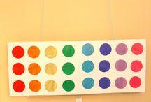 Rainbow paint party