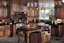 Country, Primitive and Log Kitchens / Rustic Kitchen Cabinets and Decor / by Sherry Long