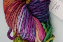 rainbow coloured yarn
