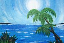 Acrylic paintings Beach / Everything beach!