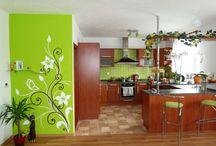 kuchyňa a maľby
