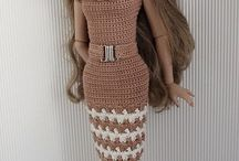 vestido de boneca crochê
