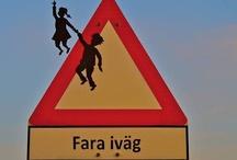 Signalisation ? :) / Signalétique routière détournée street art humour panneaux marquage routier