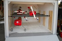 RC cars, planes and storage ideas.