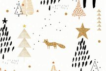 Winter patterns and illustrations / Christmas and winter themed design