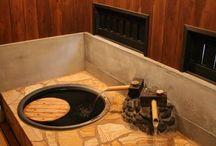 ばん屋の貸切温泉 / 温泉宿ばん屋の貸切温泉です。 露天風呂2箇所、釜風呂、南瓜風呂。 ご宿泊の際に利用できます。