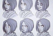 Graphic faces