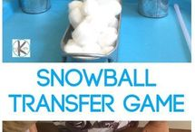 Snowball game (cotton balls)