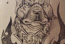 Tattoo / Meine gemalten tattoos
