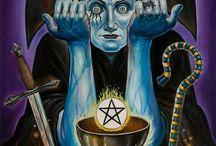 I The Magician Tarot Card / A selection of tarot cards and art that represent the Magician.