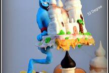 Defying Gravity Cake / defying gravity cake - Aladdin genie theme