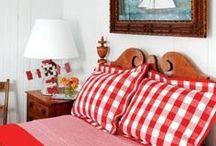 Red Strawberry Gingham Room