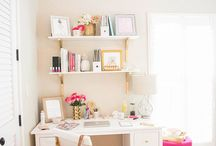 Work Space / Home office, work space, decorating for the home office space