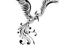 Diseño Del Tatuaje Del Fénix