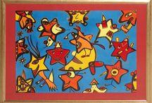 Sternenkinder / Acrylmalerei