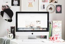IMac desk decor