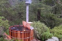 Wood-fired hot tubs
