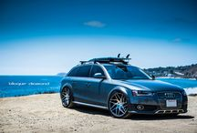 2013 Audi Allroad Fitted with 20 Inch BD-3 in Matte Graphite Machine Face