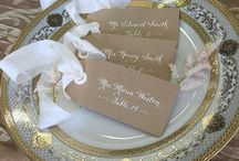Wedding Escort Cards- Calligraphy / Get your guests to their seats in style