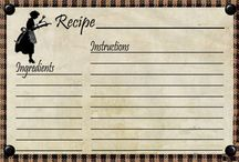 tags,recipe cards