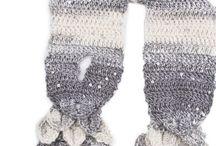 pletené a háčkované šály