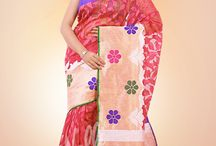 Banaras Saree / Banarasi sarees are known for their gold and silver brocade or zari, fine silk and opulent embroidery, and are highly sought after. These saris are made of finely woven silk and are decorated with intricate design, and because of these engravings, they are relatively heavy.