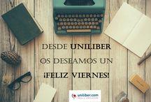 Feliz viernes de lectura desde Uniliber / Cada viernes os deseamos un feliz fin de semana desde uniliber.com
