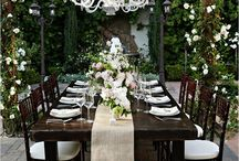Rustic Chic Table Setting / Country settings Tuscan style.