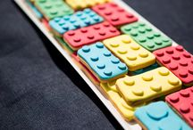 Christening | Legos / Lego themed christening, with soap favors and lego shaped cookies!