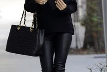 leather pants outfit / Leather pants